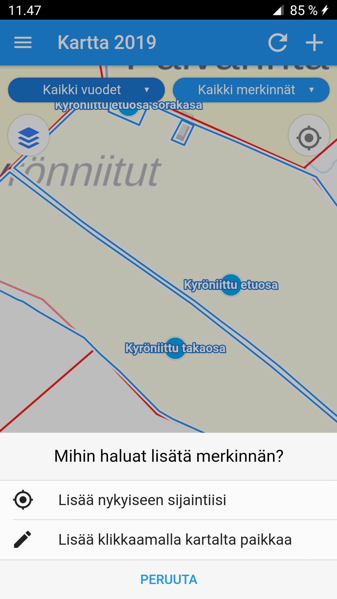 Kännykän Paikannus